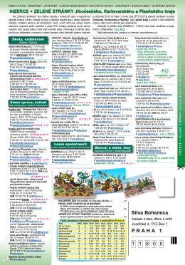 Inzerce + Zelené stránky Jihočeského, Plzeňského a Karlovarského