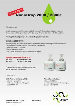 NanoDrop 2000 / 2000c