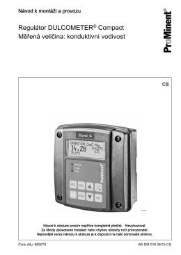 Regulátor DULCOMETER® Compact, Měřená veličina: konduktivní