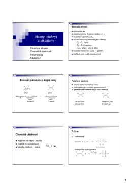 3. Alkeny (olefiny)