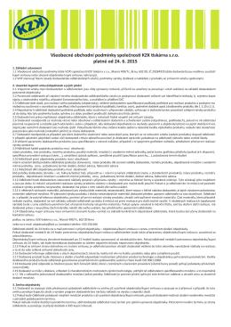Všeobecné obchodní podmínky platné od 24. 6. 2015
