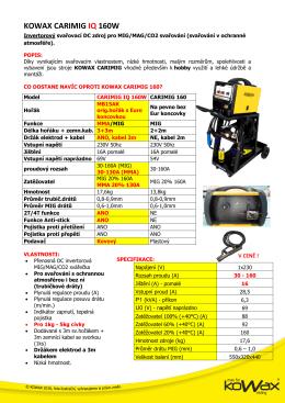 KOWAX CARIMIG IQ 160W - Svářečky
