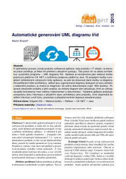 Automatické generování UML diagramu tríd