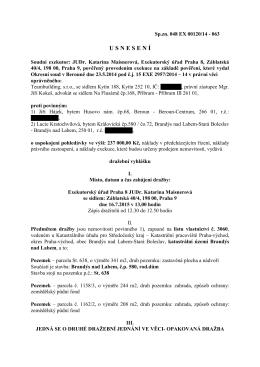 U S N E S E N Í - Exekutorský úřad pro Prahu 8