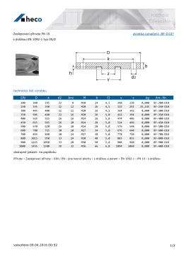 Zaslepovací příruba PN 10 s drážkou EN 1092