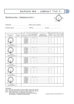 šachtová dna – PDF