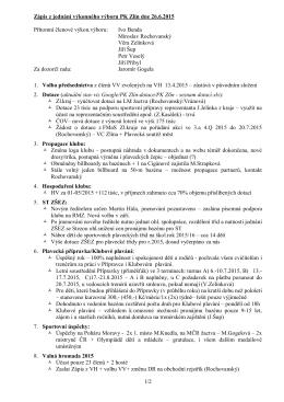 1/2 Zápis z jednání výkonného výboru PK Zlín