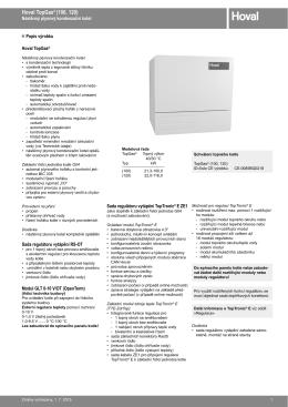 TopGas (100, 120) - technický katalog
