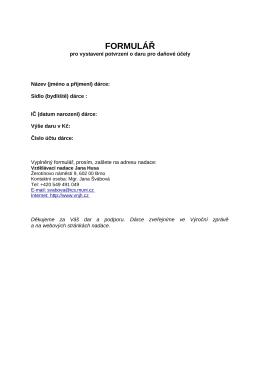 FORMULÁŘ - Vzdělávací nadace Jana Husa