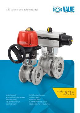 Ceník VALVE CONTROL 2015