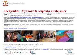 Jáchymka – Výchova k respektu a toleranci