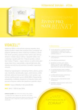 Vidacell® - leták v PDF
