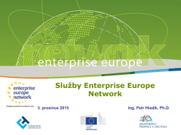 Služby Enterprise Europe Network