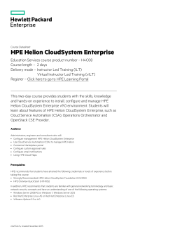 HPE Helion CloudSystem Enterprise
