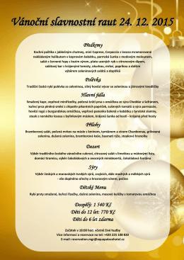 Vánoční slavnostní raut 24. 12. 2015