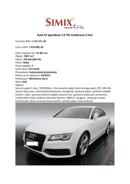 Audi A7 Sportback 3.0 TDI multitronic S-line