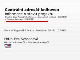 Práce s on-line formuláři v Souborném katalogu ČR