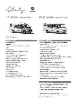EXPLORER Comfort-Line CRUISER Comfort-Line - LMC