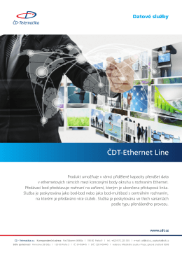 ČDT-Ethernet Line - ČD
