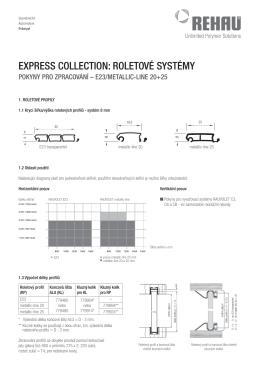 Pokyny pro zpracování E23+metallic