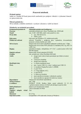 Příloha č. 3c_Technická specifikace