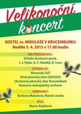 Velikonoční koncert 2015
