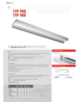 TYP PAS TYP VAS - VM elektro s.r.o.
