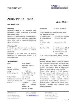 Aquafin-1K bílý