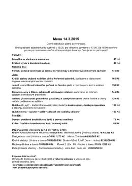 menu 15 03 14