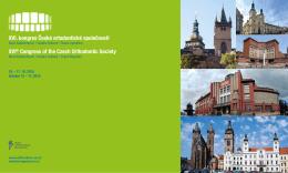 První oznámení () - kongres České ortodontické společnosti