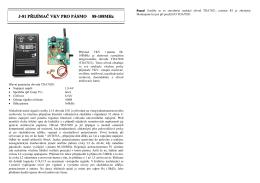 Přijímač VKV 88 - 108 MHz (744) - návod