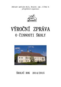 Výroční zpráva ZUŠ Bruntál 2014_2015