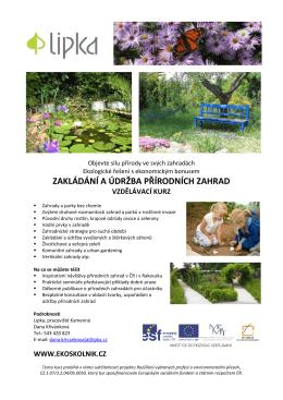 zakládání a údržba přírodních zahrad vzdělávací kurz