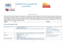 Přehled aktivit členů a pozorovatelů FoRS v rámci EYD 2015