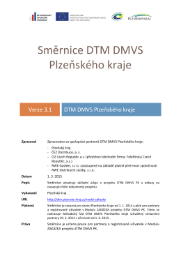 Směrnice DTM DMVS Plzeňského kraje