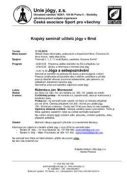 Unie jógy, z.s. - Unie jógy ČASPV