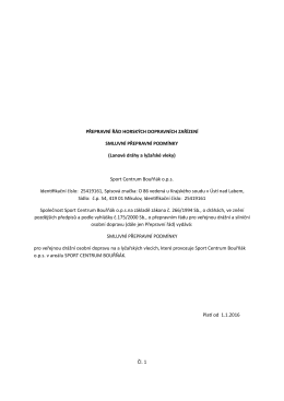 Přepravní a provozní řád ke stažení v pdf