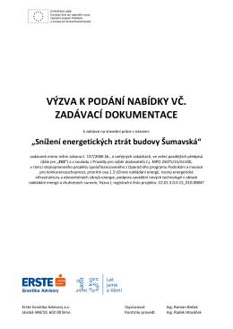 VPN se zadávací dokumentací_ŠUMAVSKÁ Tower