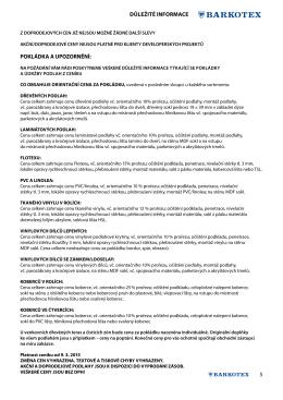Ceník koberce v rolích Alternative Flooring