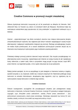 Creative Commons w promocji muzyki niezależnej