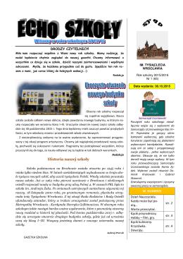 Historia naszej szkoły - Szkoła Podstawowa Nr 80