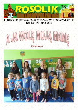 publiczne gimnazjum w cieszanowie - nowym siole kwiecień
