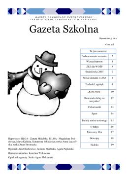 Styczen 2015 - Zespół Szkół Zawodowych w Nasielsku