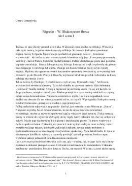 Nigredo - W. Shakespeare Burza - Temp-est
