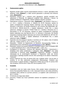 Regulamin - zaprojektujkarte.pl