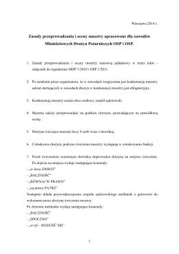 Zasady przeprowadzania i oceny musztry