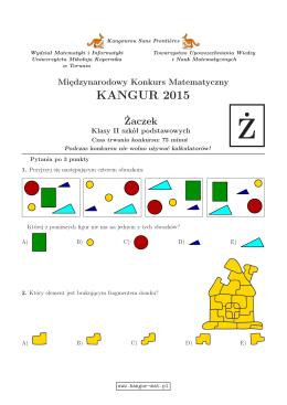 Żaczek (format PDF) - Kangur Matematyczny