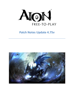 Patch Notes Update 4.75v