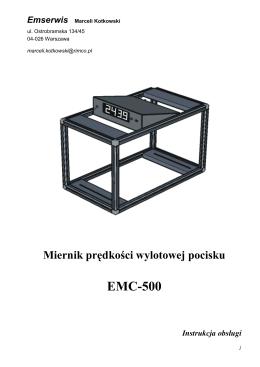 Instrukcja obsługi Miernika prędkości wylotowej pocisku EMC