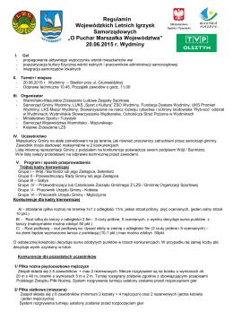 Regulamin - Warmińsko-Mazurskie Zrzeszenie LZS